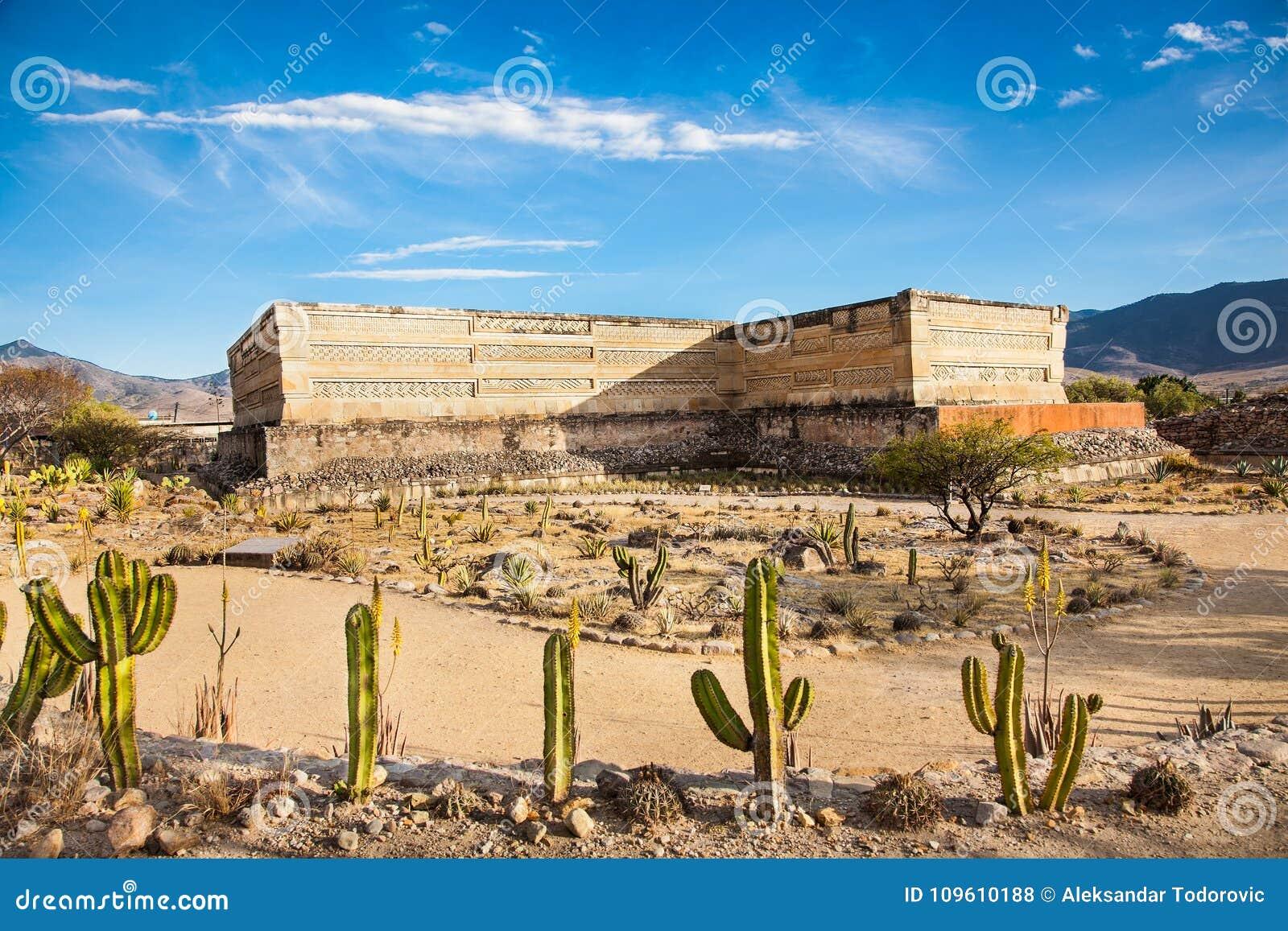 Ruínas da cidade Mitla de Zapotec do pre-hispânico, México