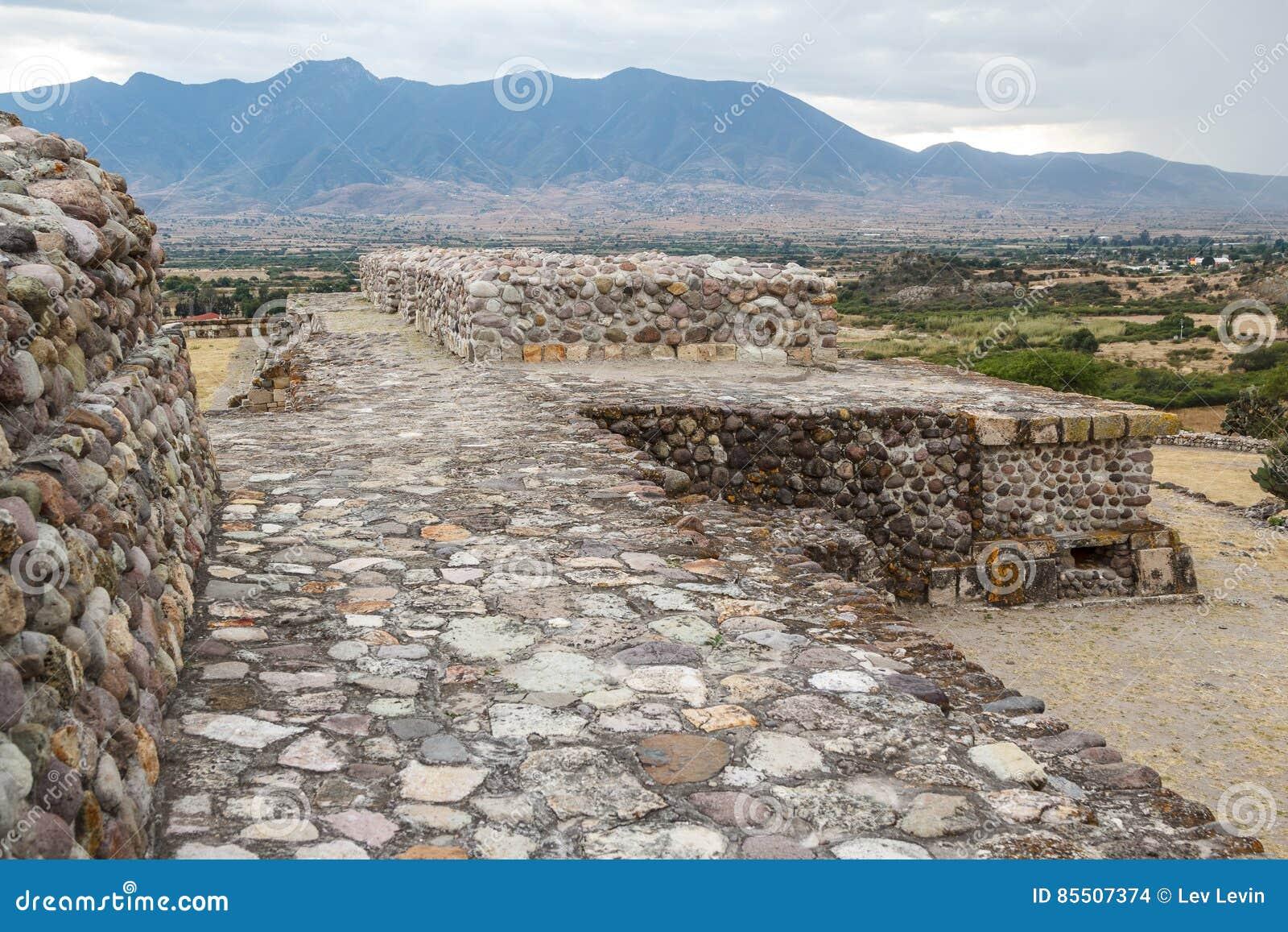 Ruínas da cidade Yagul de Zapotec do pre-hispânico