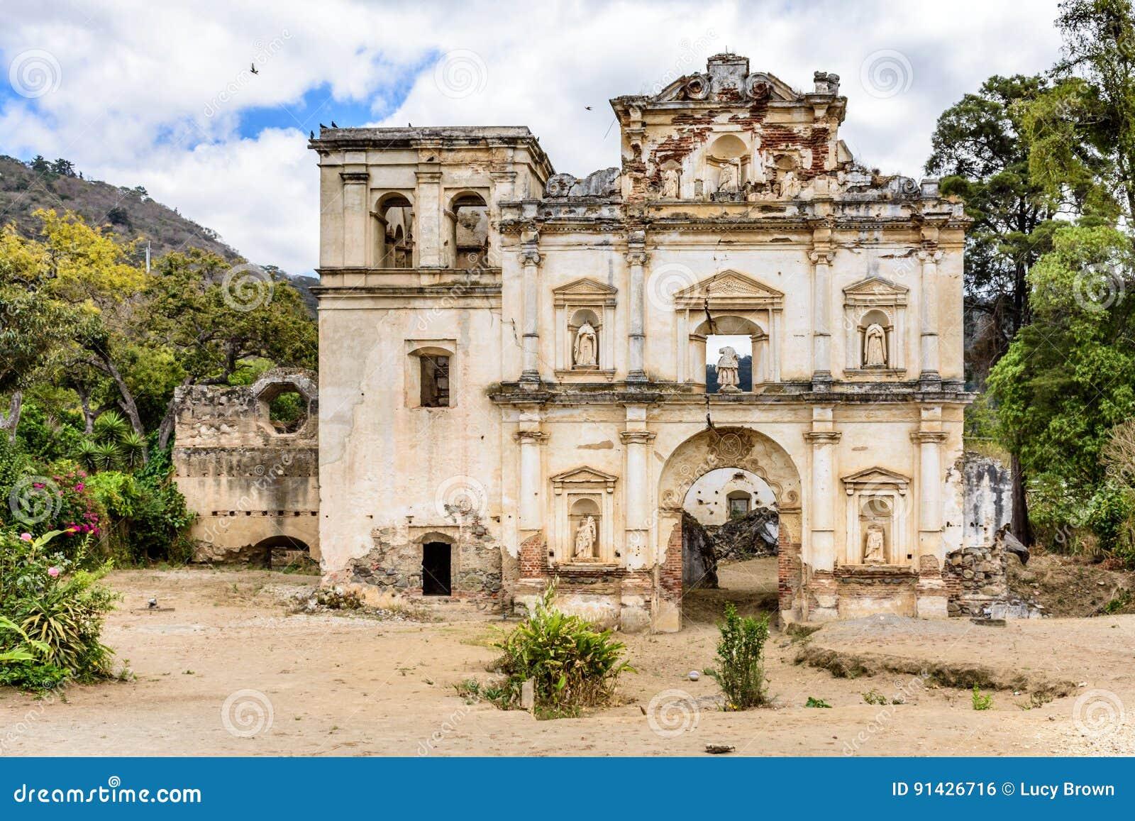Ruínas da igreja, Antígua, Guatemala