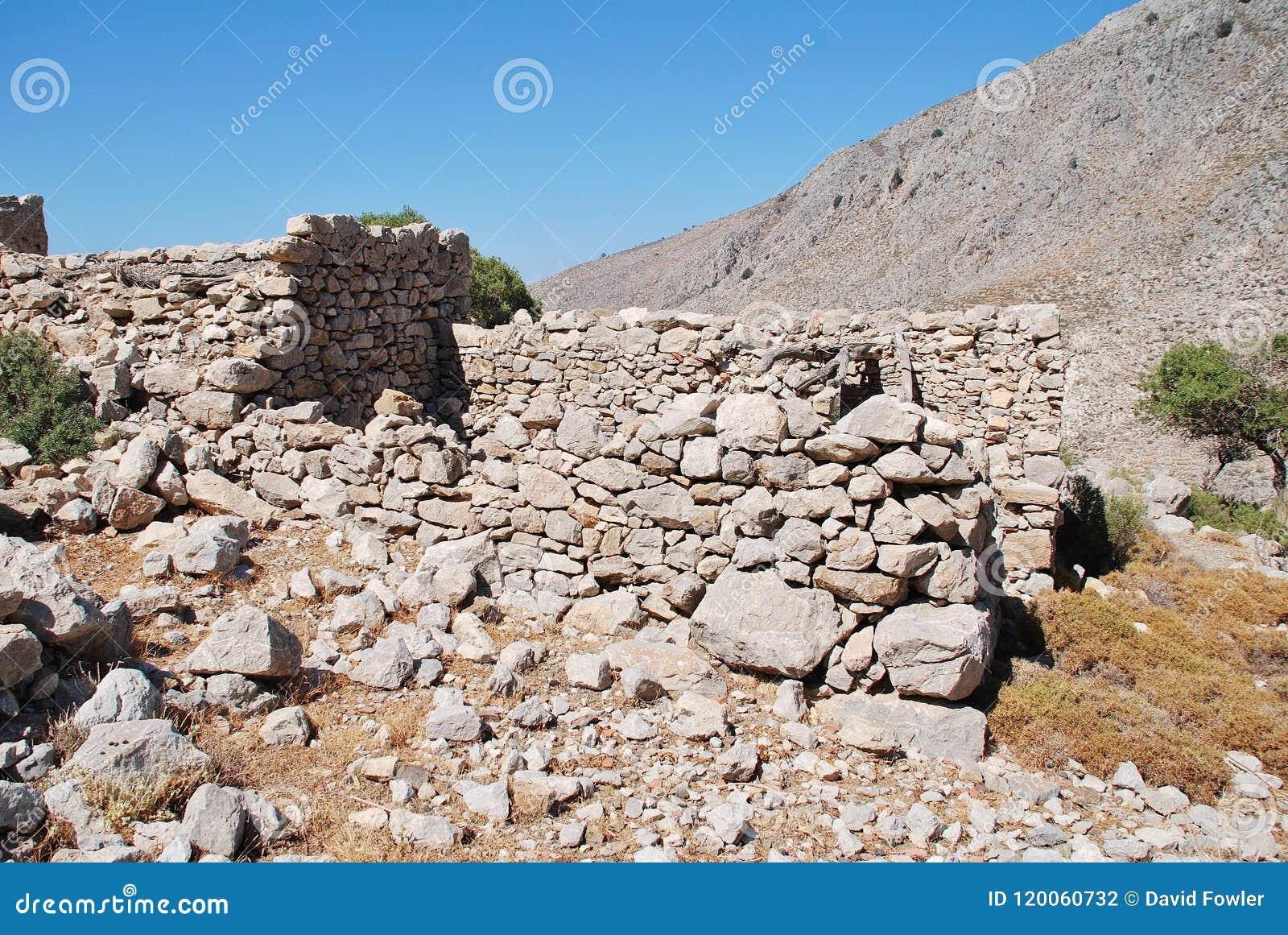 Ruínas da vila de Gera, Tilos