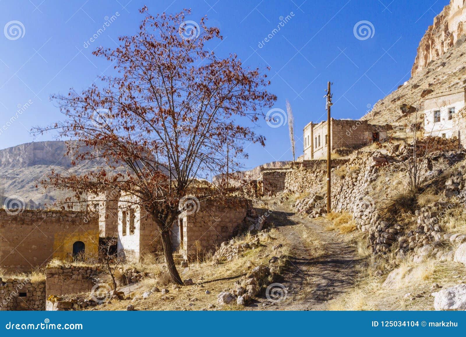 Ruínas da vila em Cappadocia, Turquia