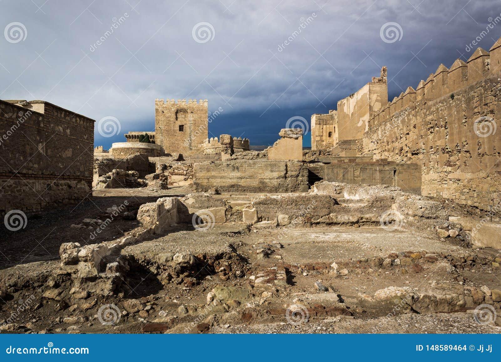 Ruínas de Alcazaba em Almeria