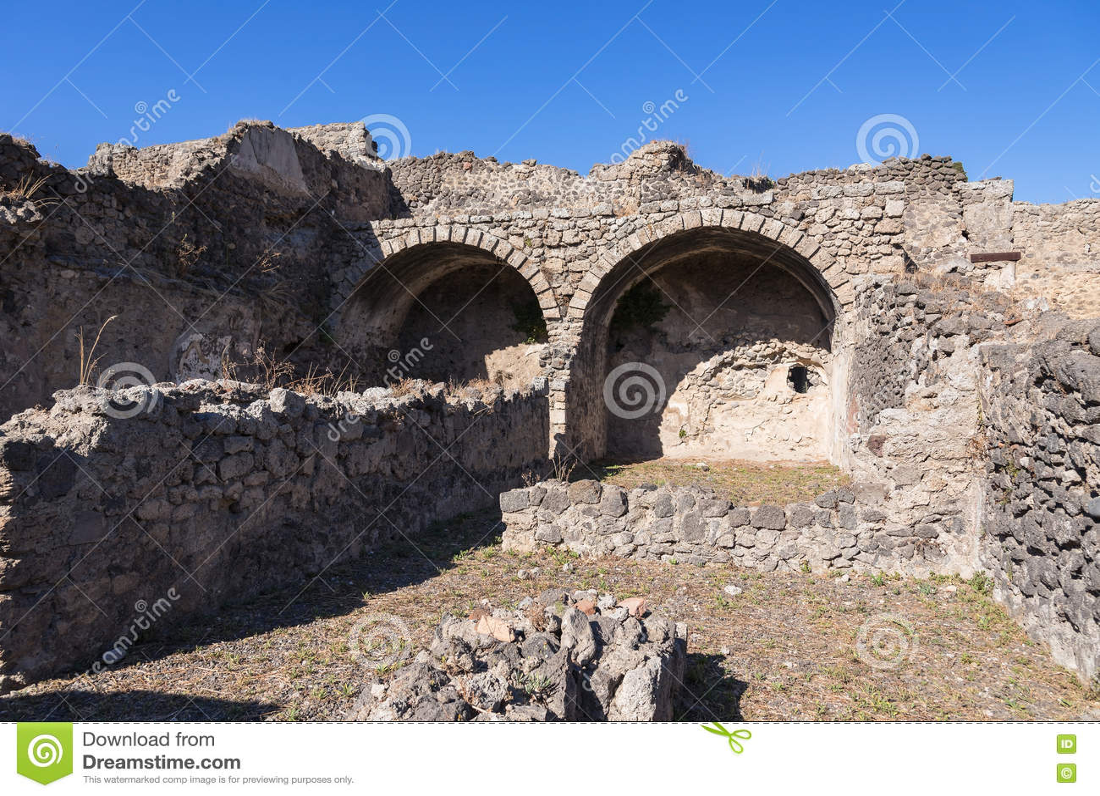Ruínas de Pompeii, a cidade romana antiga