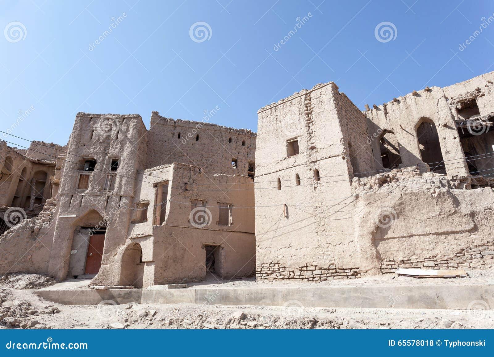 Ruínas de uma vila omanense