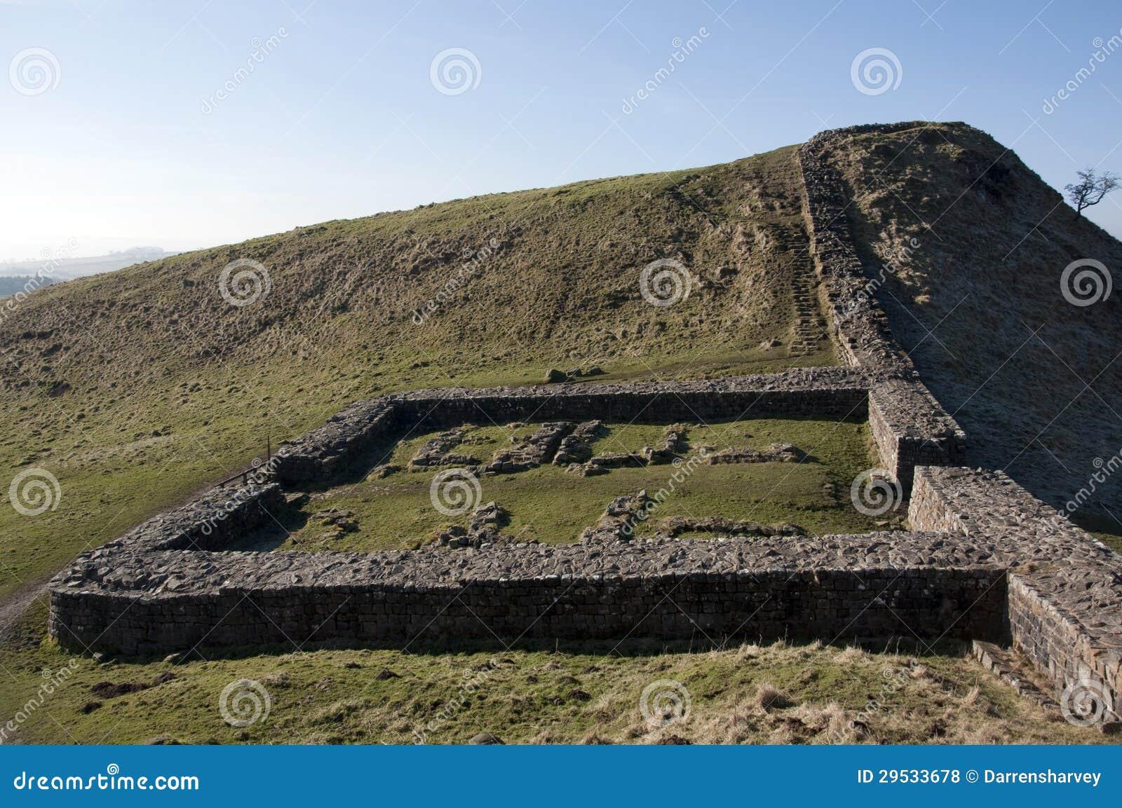 Ruínas do forte da parede de Hadrians