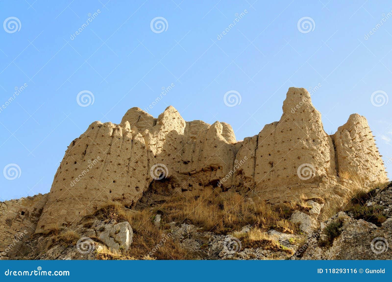 Ruínas do forte velho em Van, turquia oriental