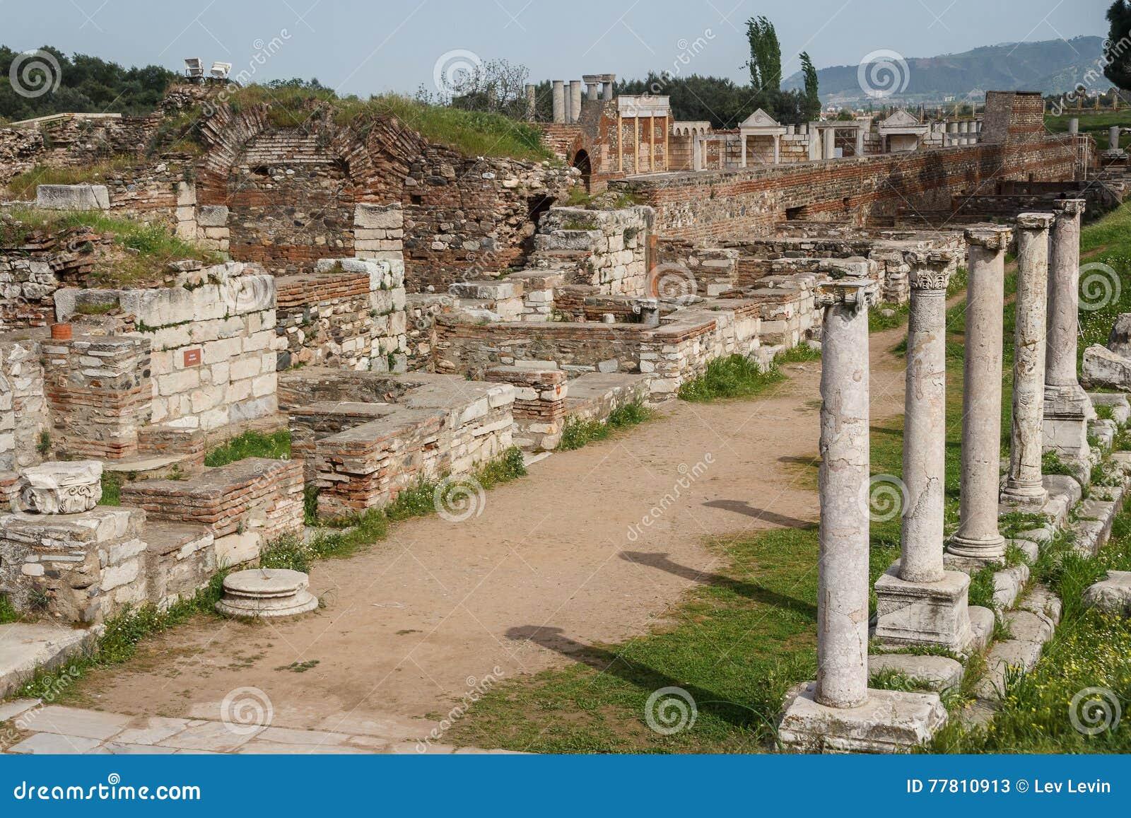 Ruínas do grego clássico e da cidade romana de Sardis