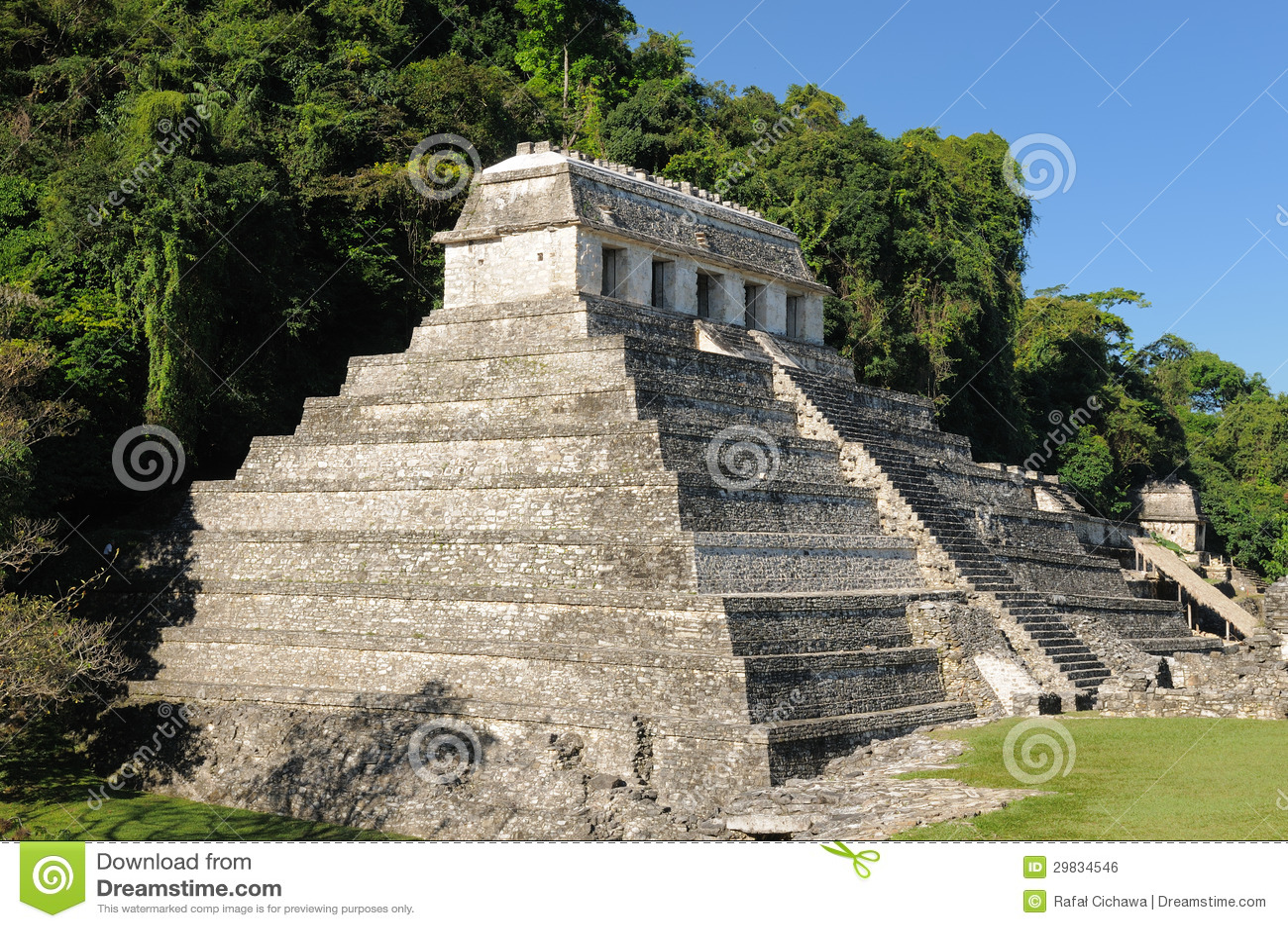 Ruínas do Maya de Palenque em México