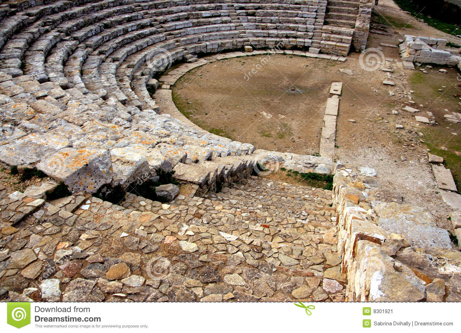 Ruínas do teatro do grego clássico, Sicília