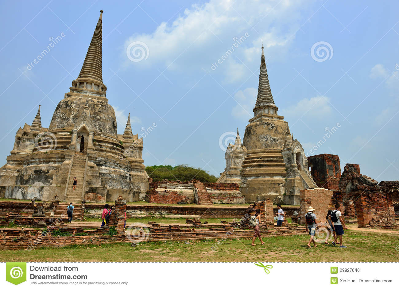 Ruínas do templo, Ayutthaya
