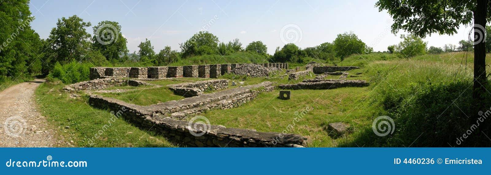 Ruínas dos romanos em Romania
