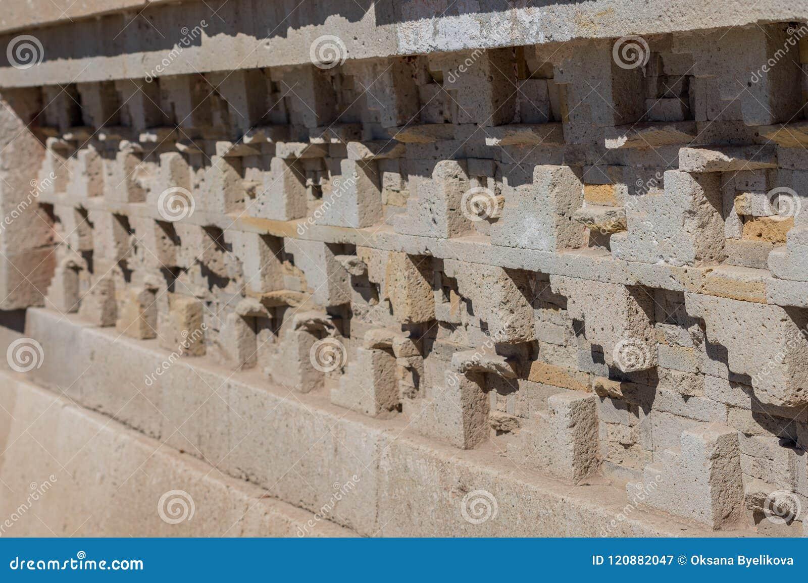 Ruínas em Mitla perto da cidade de Oaxaca Centro da cultura de Zapotec em México