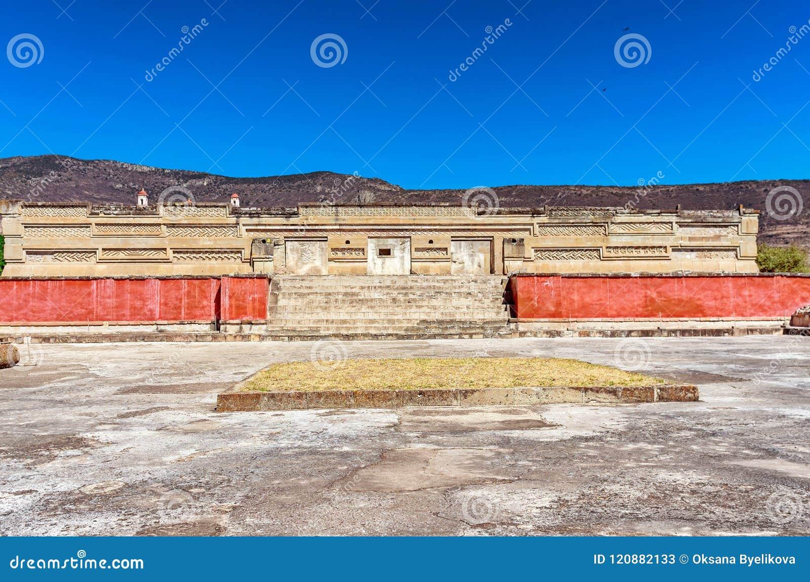 Ruínas em Mitla perto da cidade de Oaxaca Centro da cultura de Zapotec em Mexic