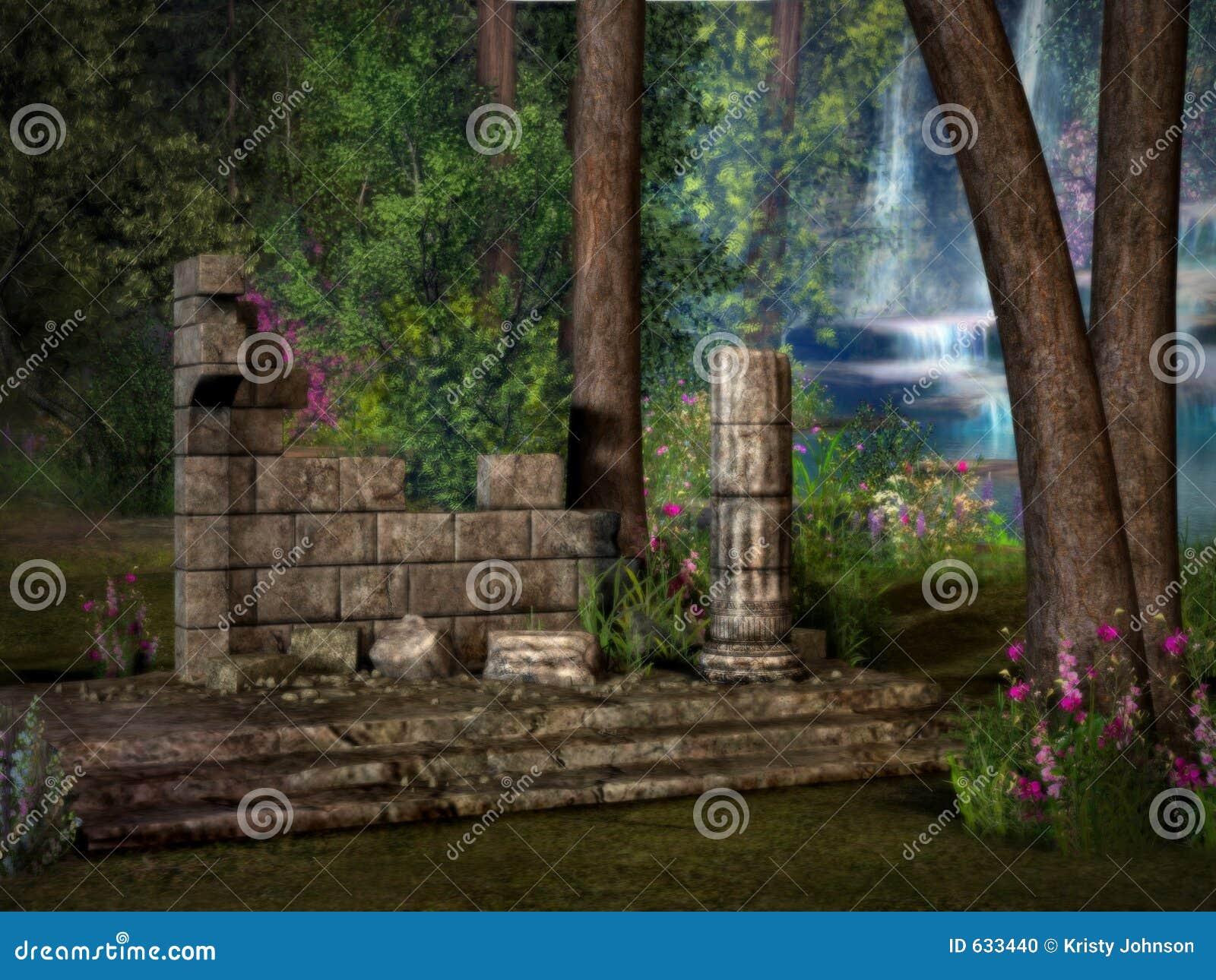 Ruínas perdidas do templo