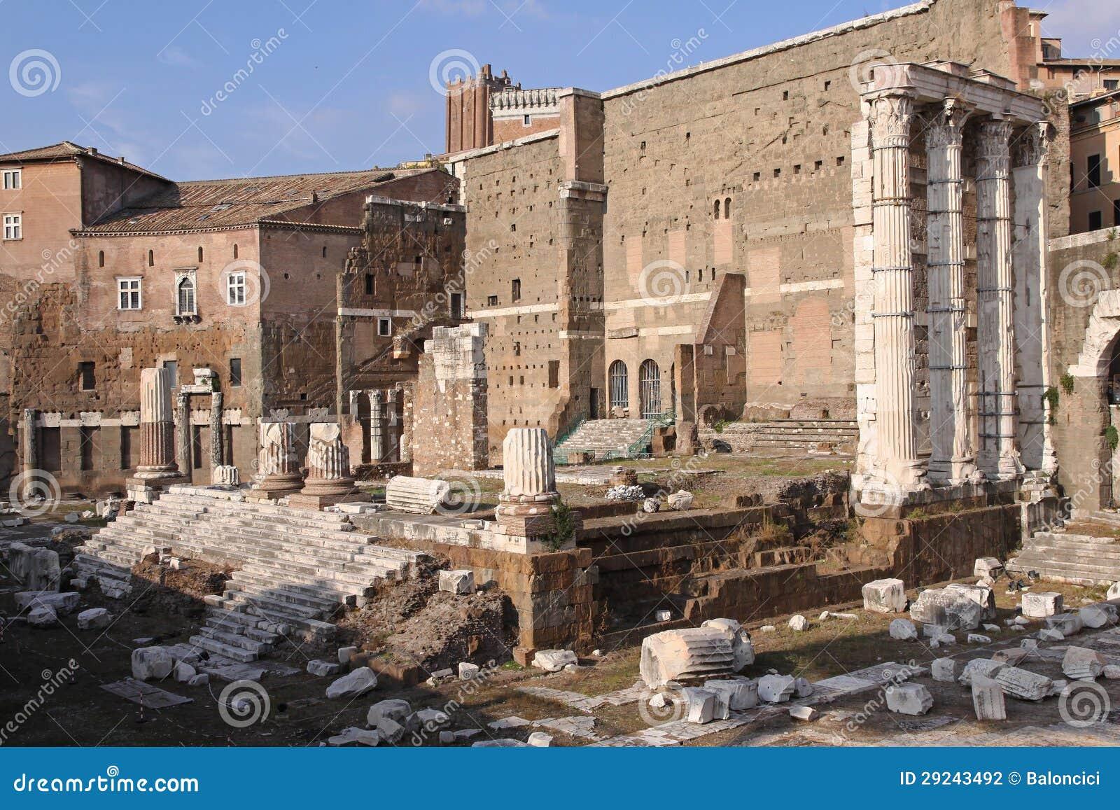 Download Ruínas romanas foto de stock. Imagem de ruínas, velho - 29243492