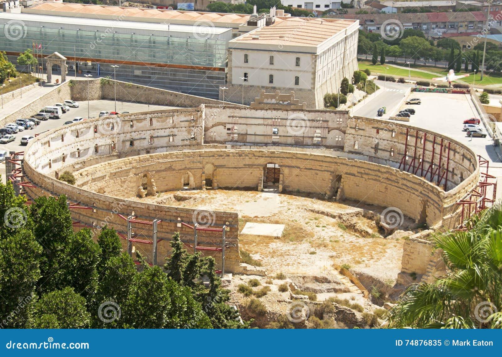 Ruínas romanas em Cartagena