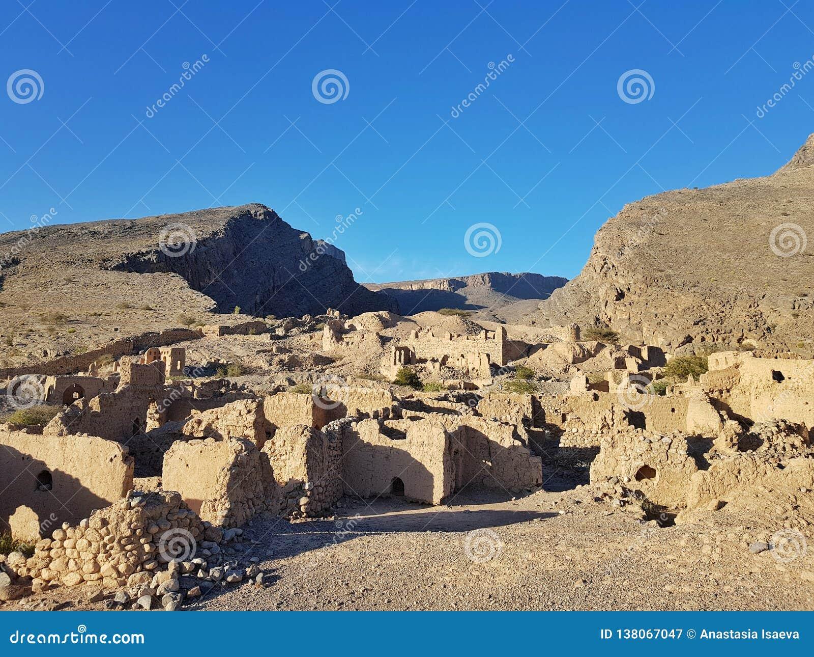 Ruínas velhas em Omã