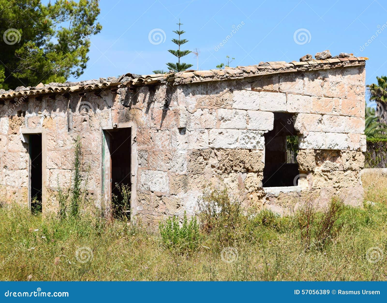 Ruïne in een Spainsh-spookstad