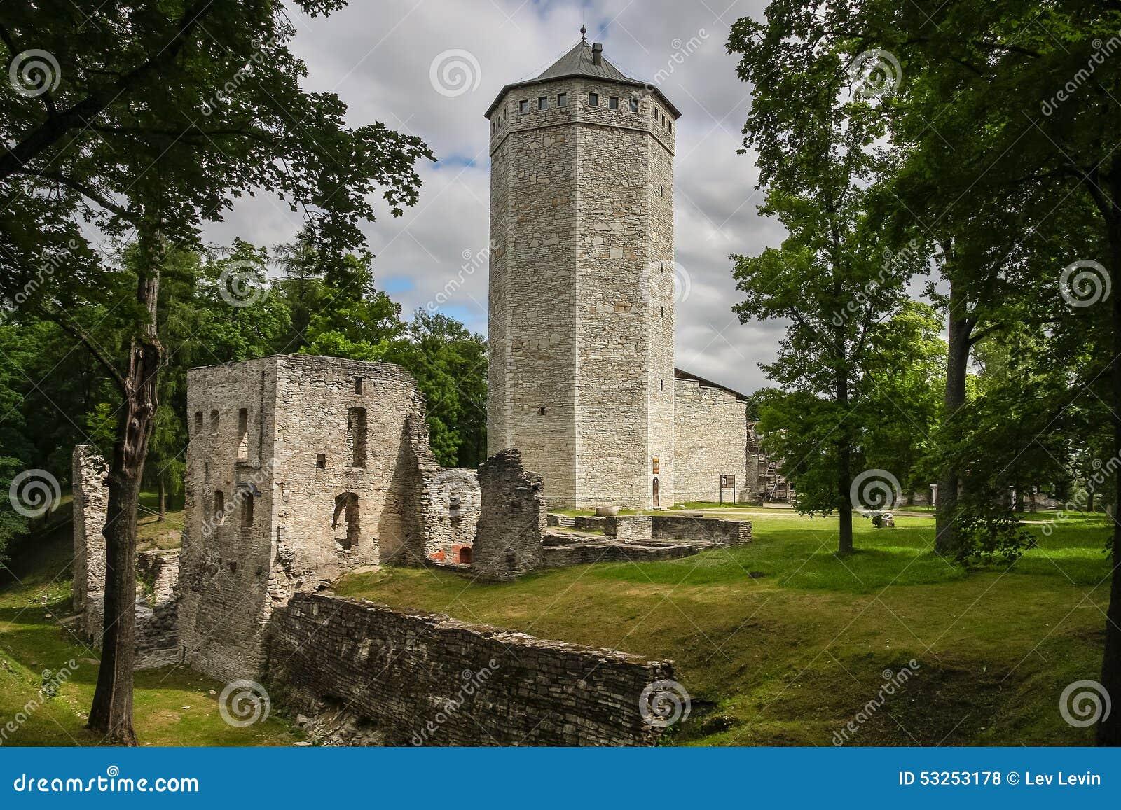 Ruïnes van Betaald middeleeuws kasteel, Estland