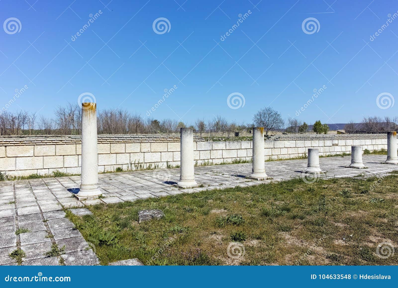 Download Ruïnes Van De Grote Basiliek Dichtbij De Hoofdstad Van Het Eerste Bulgaarse Imperium Pliska Stock Foto - Afbeelding bestaande uit architectuur, bulgaars: 104633548