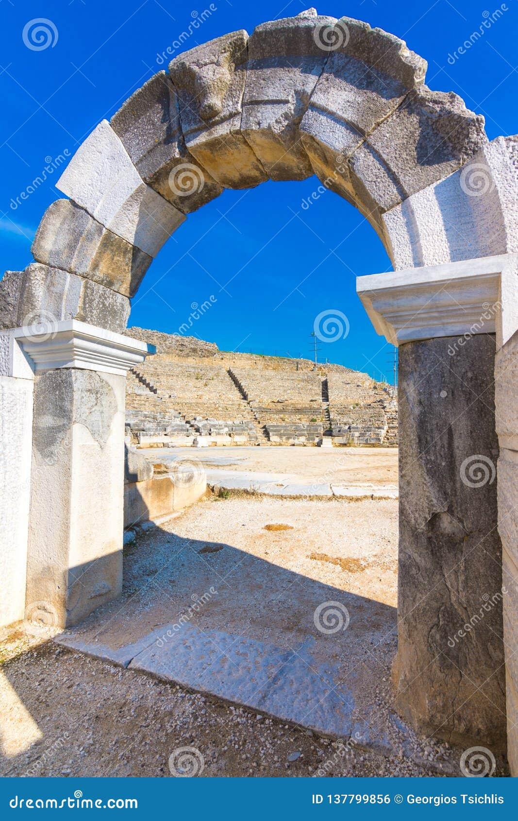 Ruïnes van de oude stad van Philippi, Oostelijk Macedonië en Thrace, Griekenland