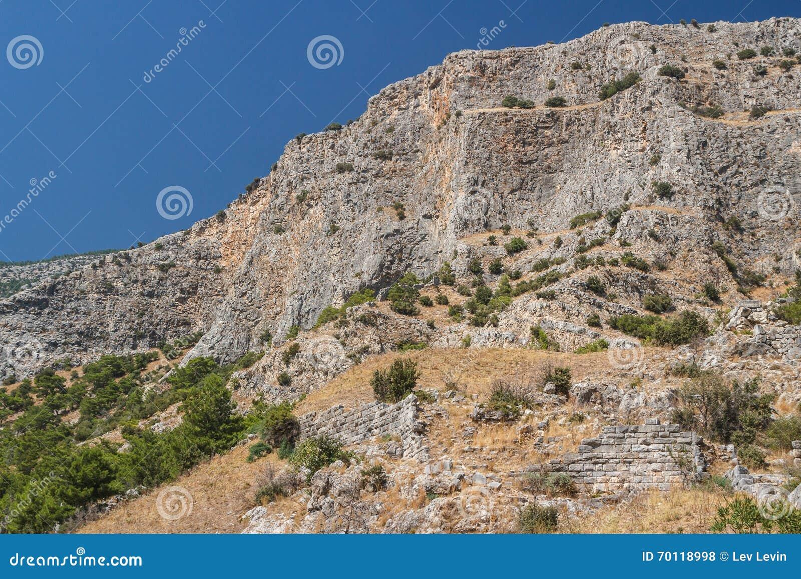 Ruïnes van de oude stad van Priene