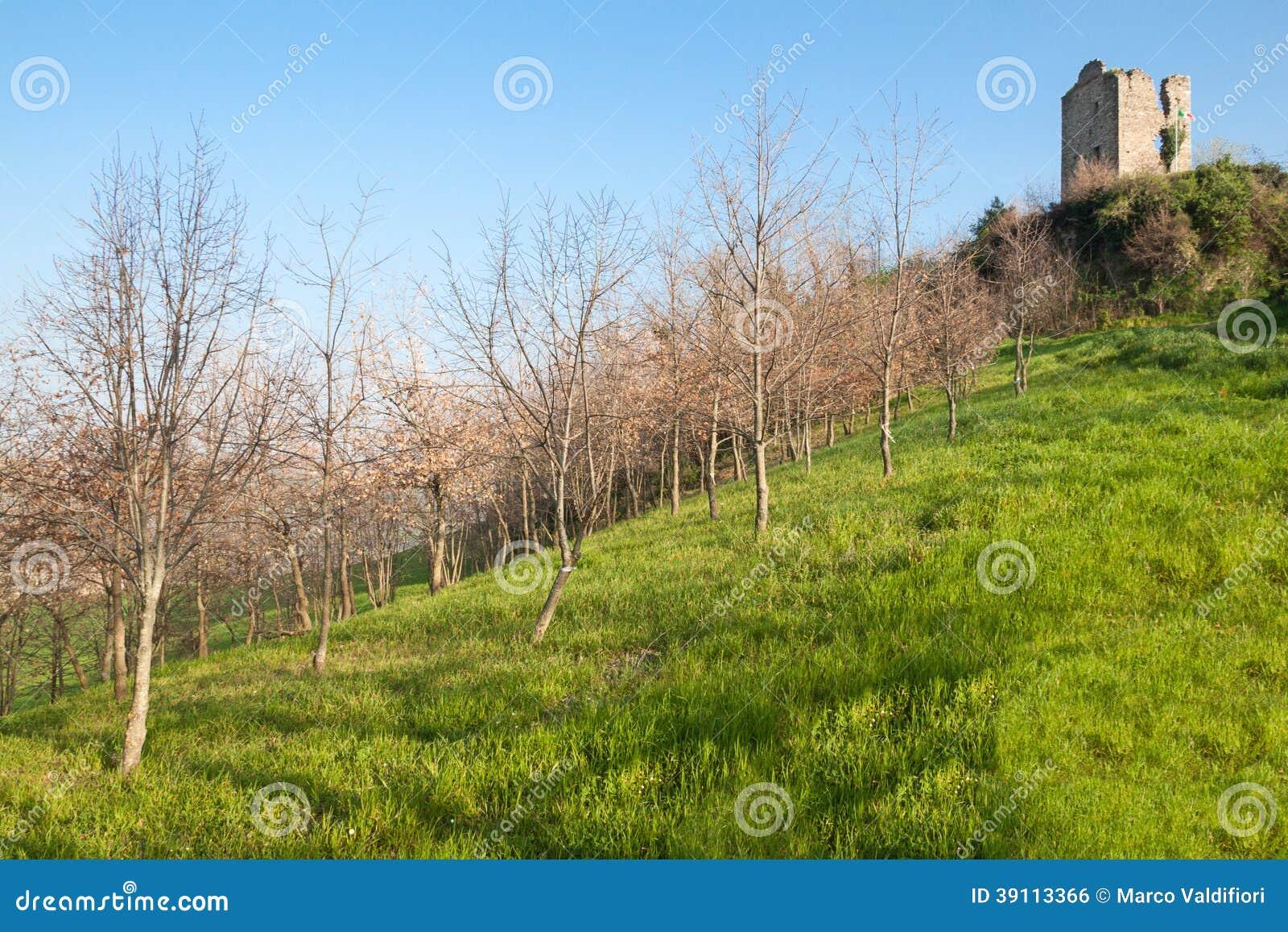 Ruïnes van het dorp van Castelnuovo
