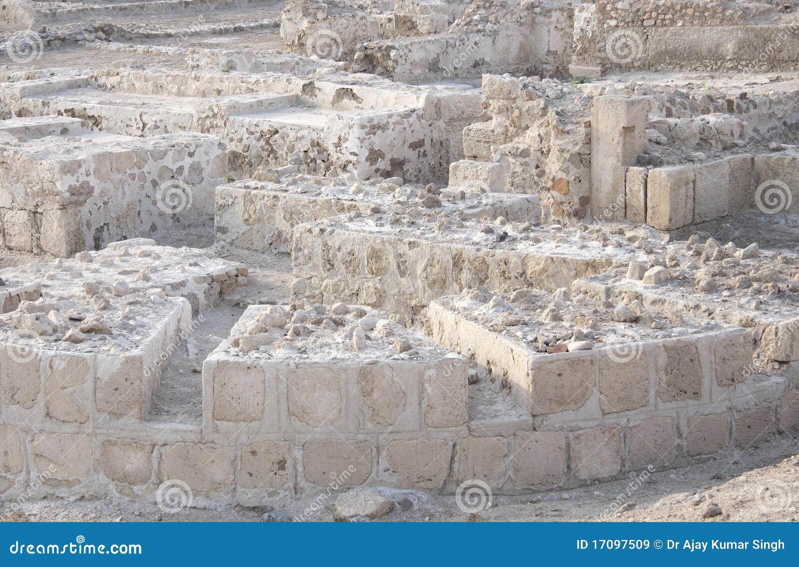 Ruïnes van het fort van Bahrein