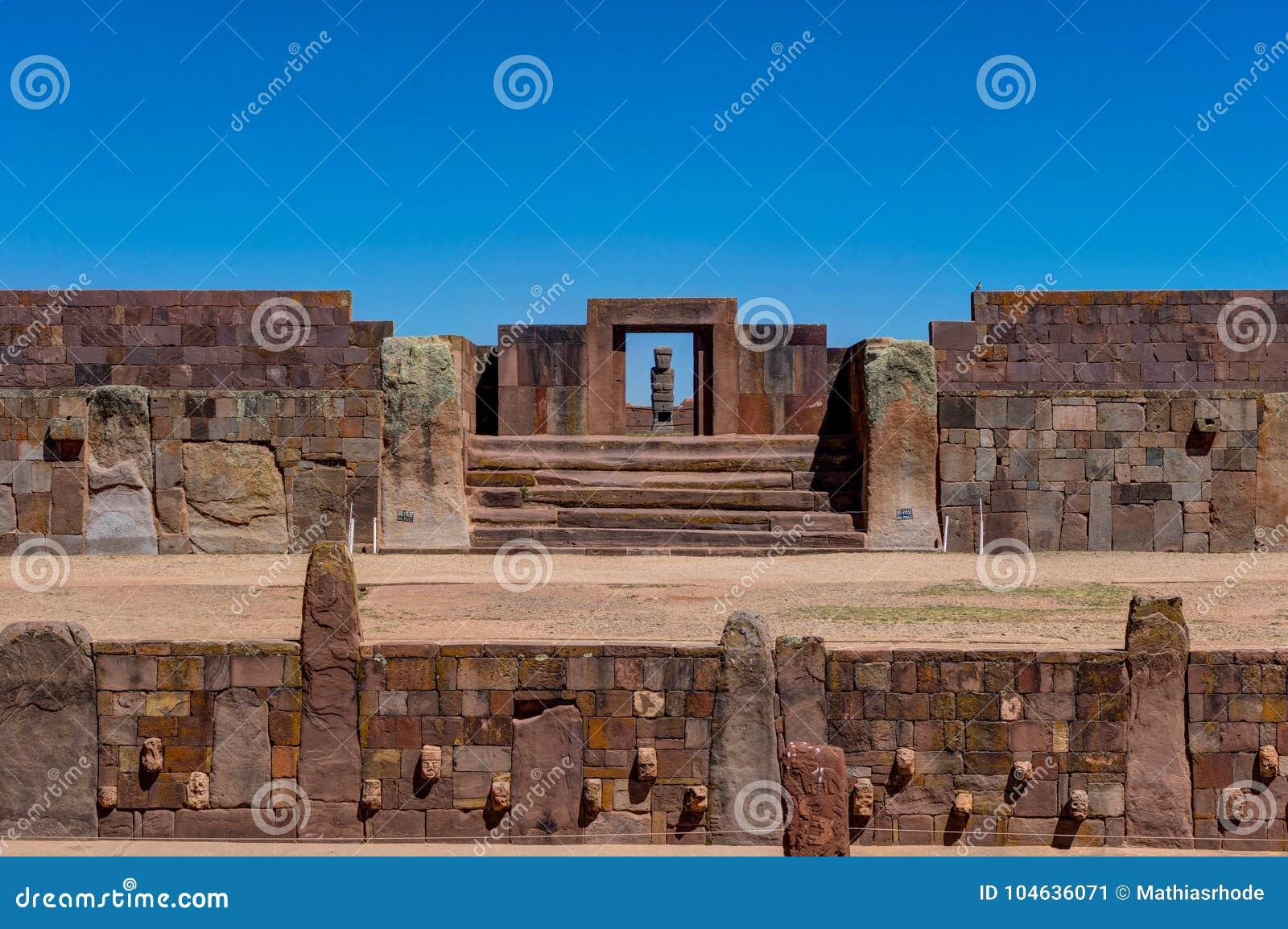 Download Ruïnes Van La Paz Van Tiwanaku Bolivië Stock Afbeelding - Afbeelding bestaande uit monument, cultuur: 104636071