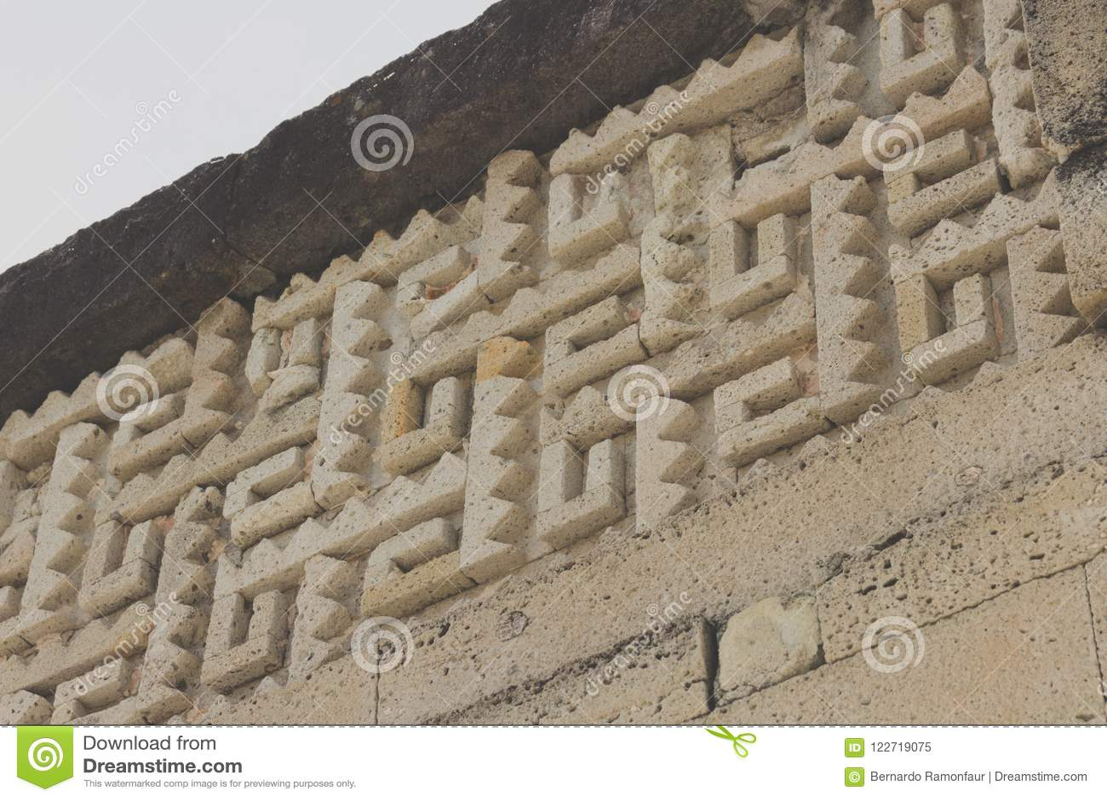 Ruïnes van Mitla in Oaxaca Mexico