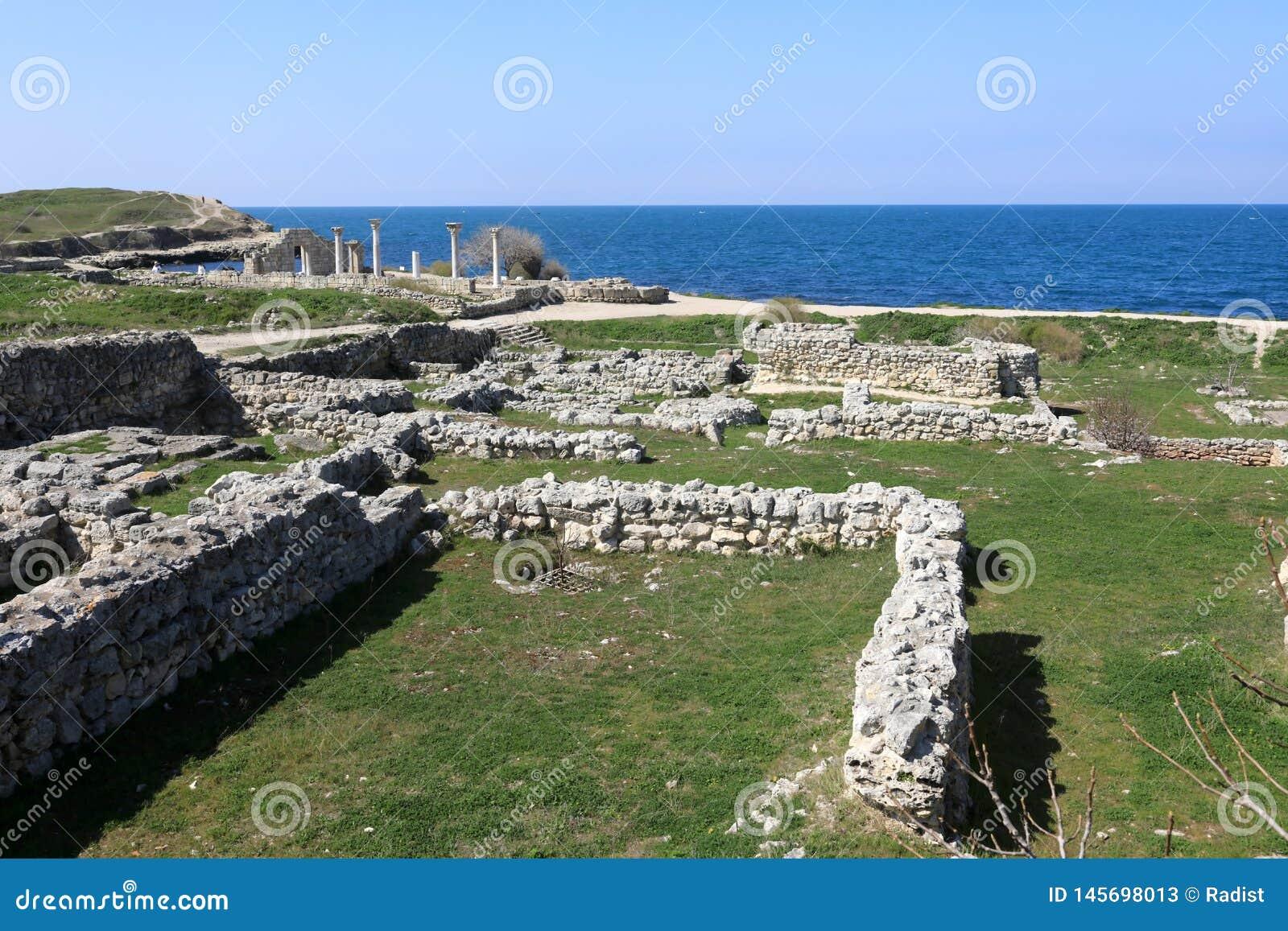 Ruïnes van oude stad van Chersonesos