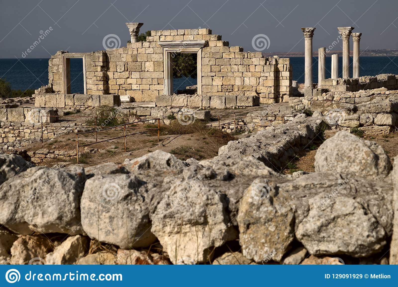 Ruïnes van Tauric Chersonese in Sebastopol