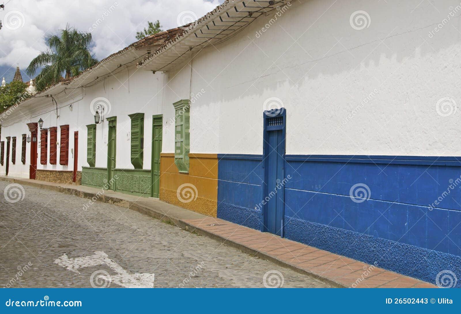 Rua colonial de Santa Fe de Antioquia, Colômbia