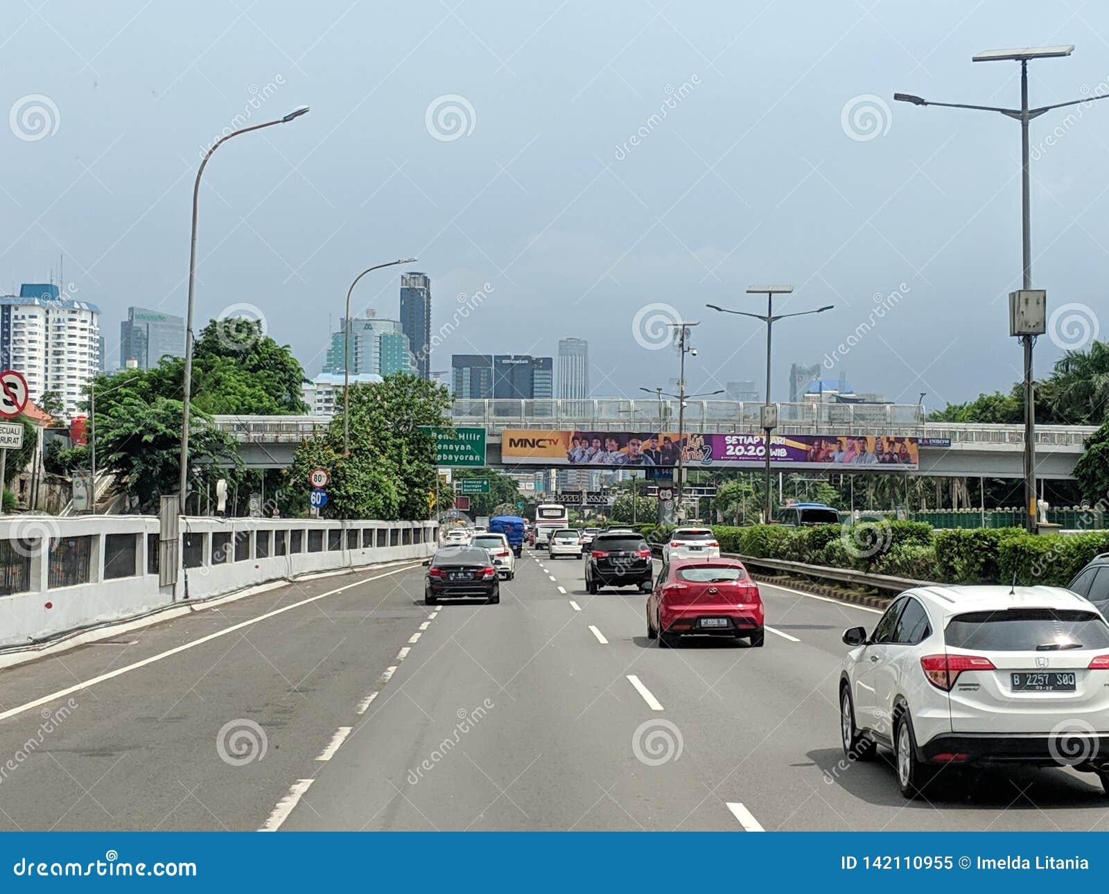 Rua da cidade de Jakarta