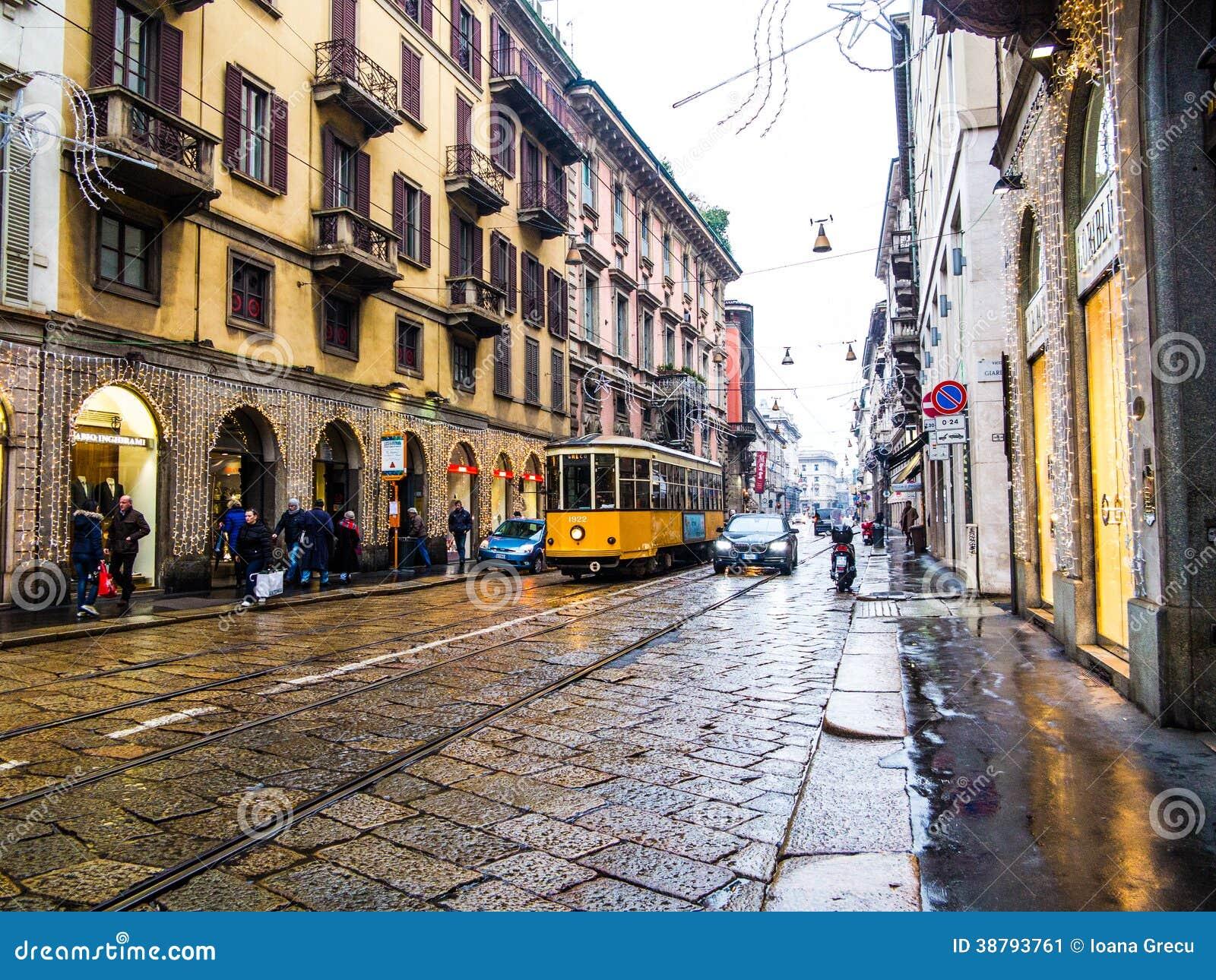 Rua de Milão, Itália