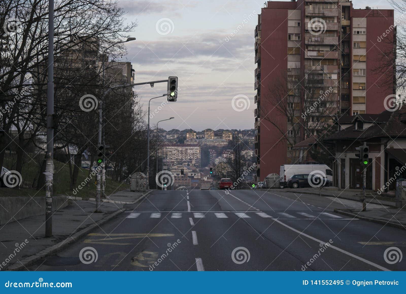 Rua de Pilota Mihaila Petrovica no rakovica Belgrado serbia