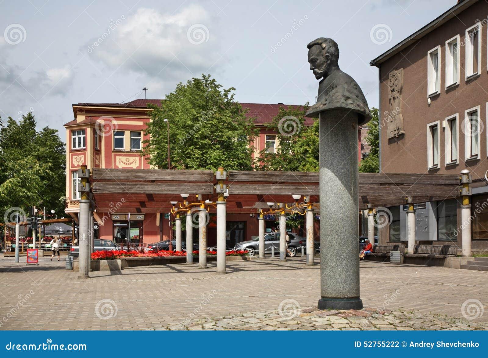 Rua de Vilniaus em Siauliai lithuania
