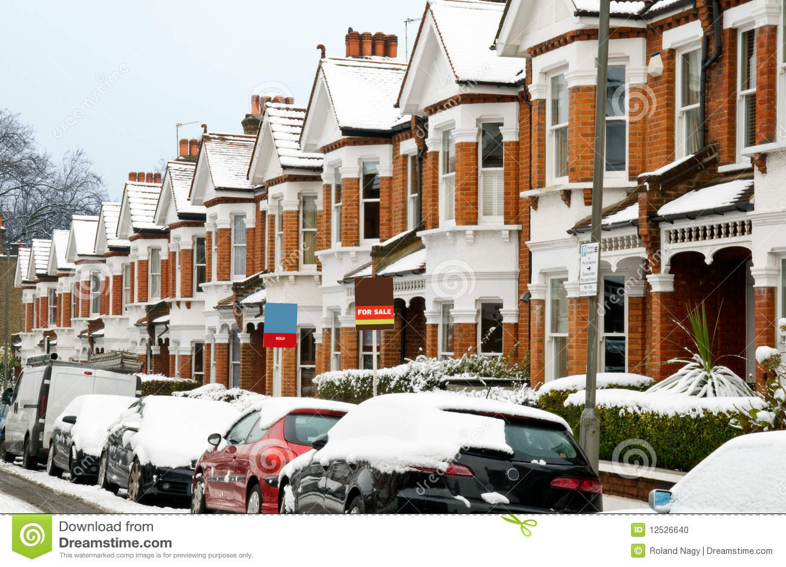 Rua do inverno em Londres.