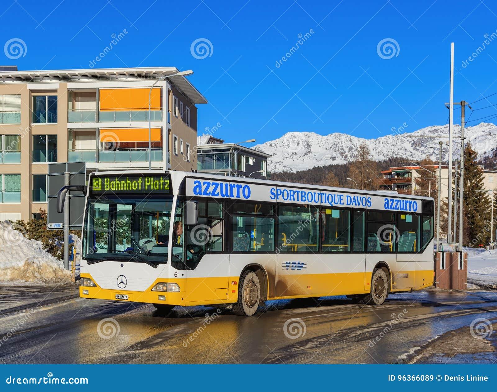 Rua em Davos, Suíça