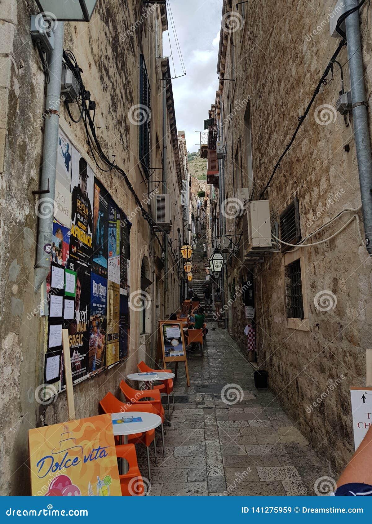 Rua em Dubrovnik
