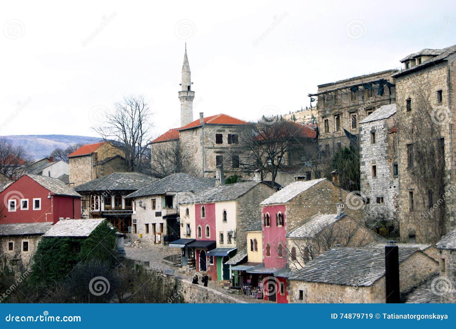 Rua Kuyundzhiluk na cidade de Mostar