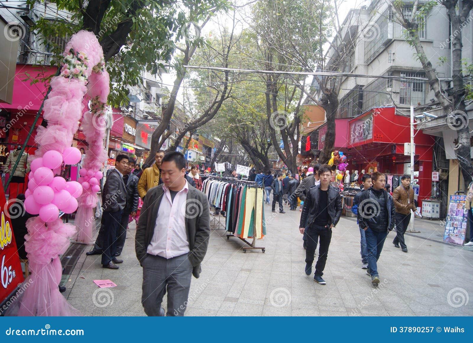 Rua pedestre comercial do xixiang de Shenzhen