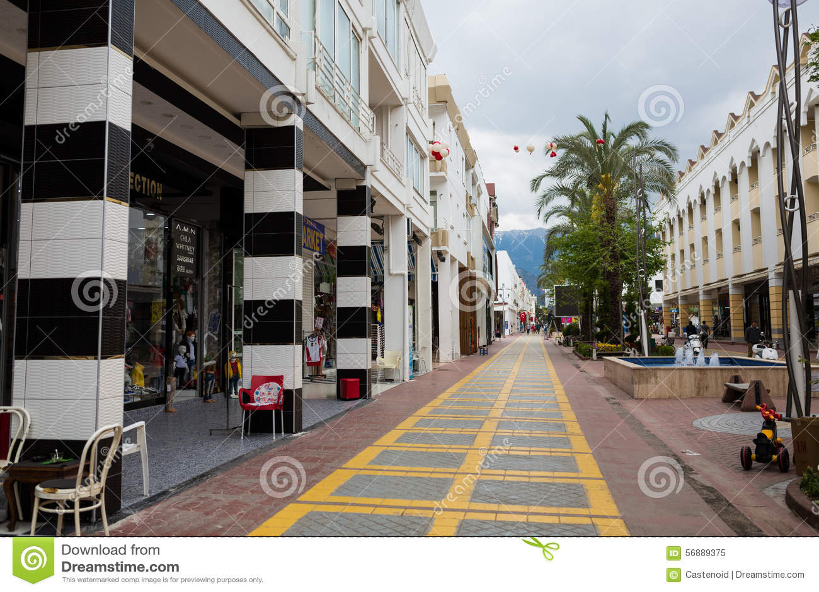 Rua pedestre de Kemer