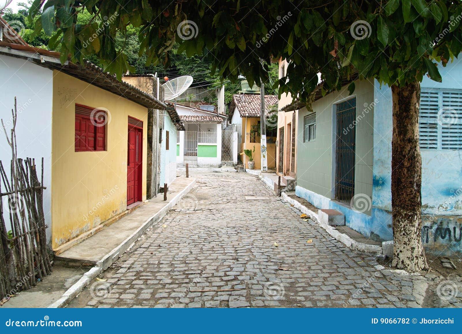 A rua pequena, Praia faz Pipa.Brazil