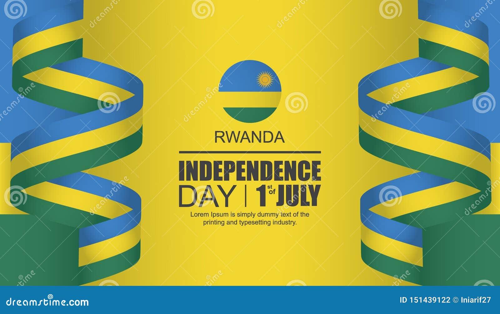 Ruanda-Unabhängigkeitstagschablonenentwurf