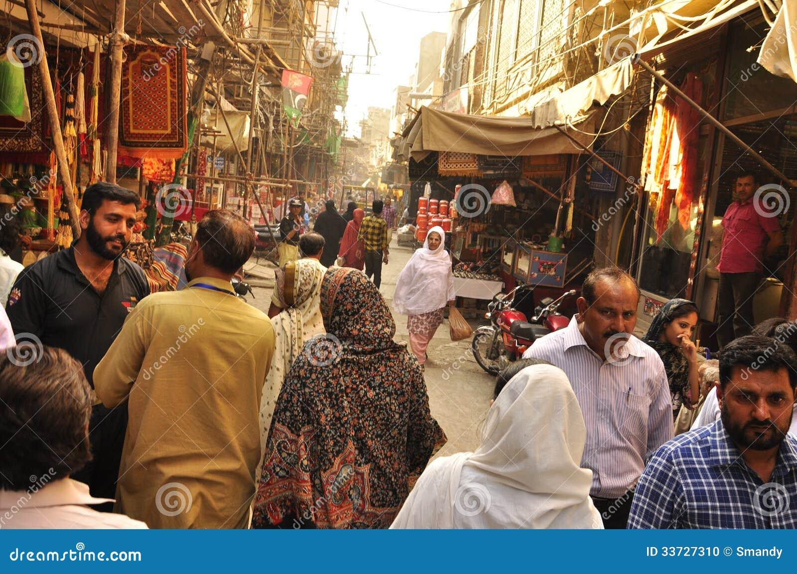 Ruas da cidade velha de Lahore