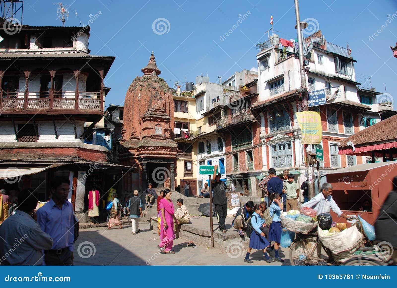 Ruas de Kathmandu