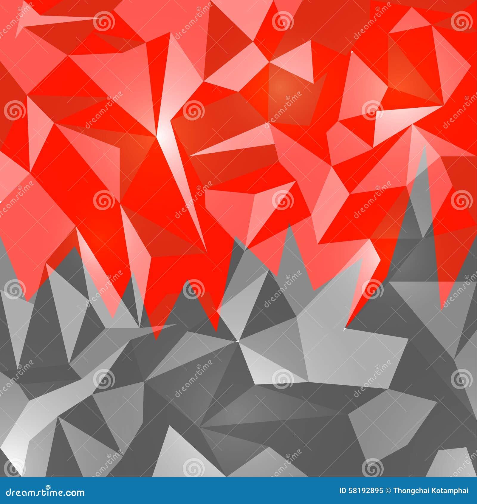 Rubí del rojo del diseño del polígono del extracto del fondo de los vectores