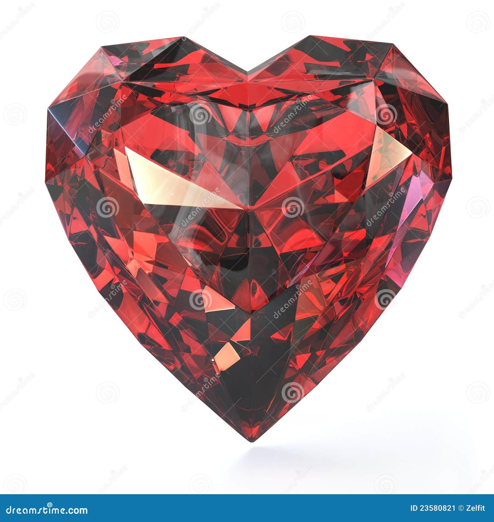 Rubí en forma de corazón