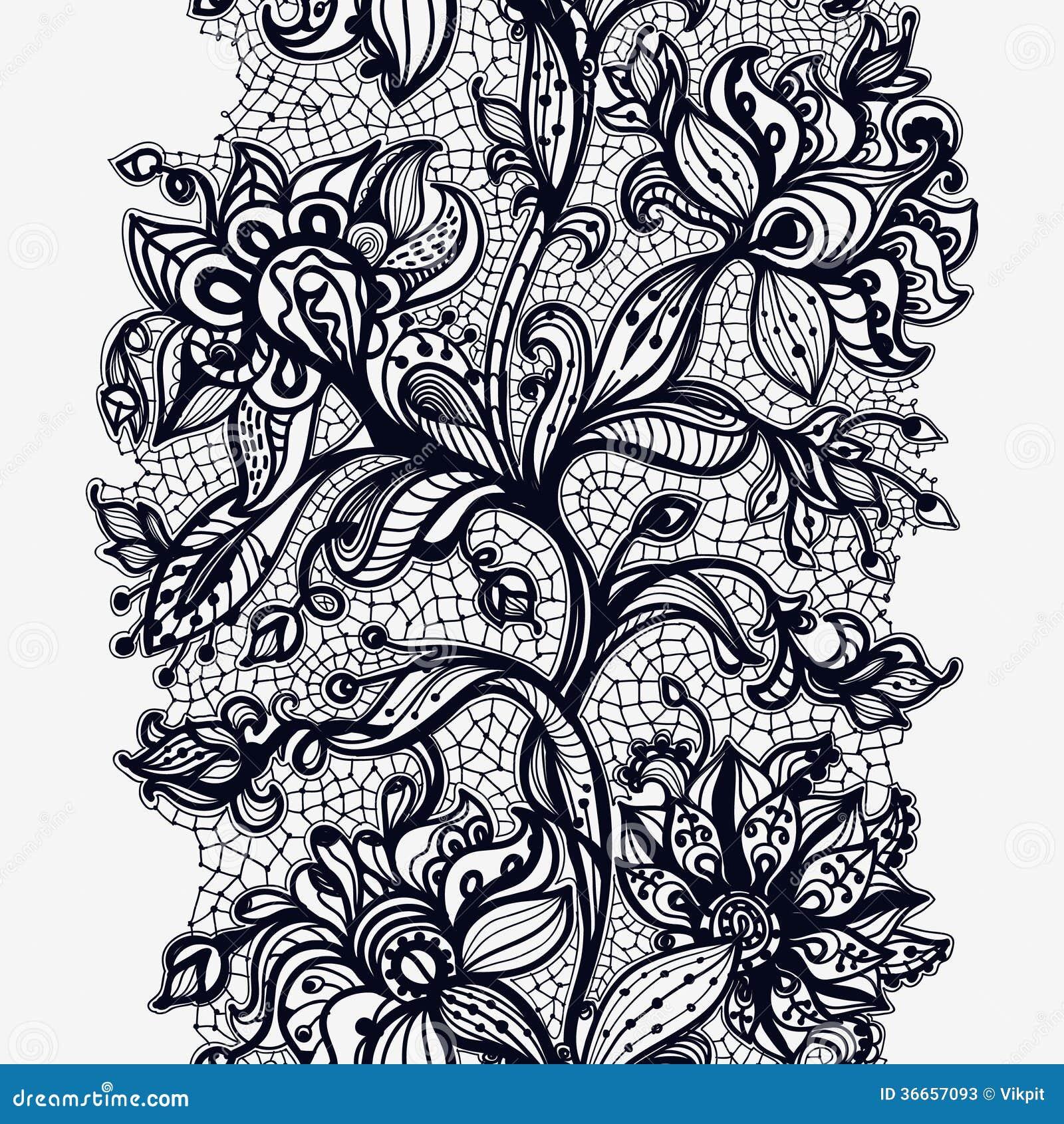 Dentelle Dessin ruban abstrait de dentelle illustration de vecteur. illustration du